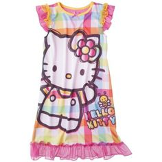 Hello Kitty Girls' Short-Sleeve Sleep Gown SHE REALLY LIKES THIS ONE!  Size Large, Target.com
