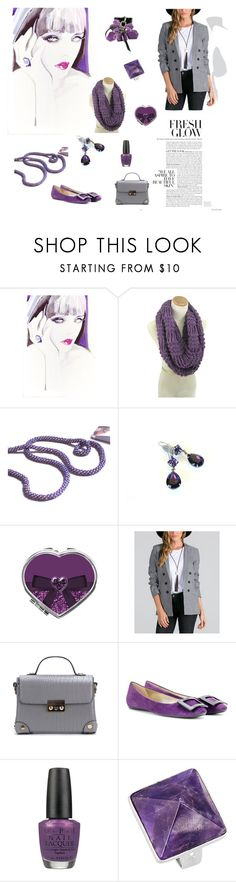 """""""Fresh Glow"""" by arlenesboutique ❤ liked on Polyvore featuring Roger Vivier, OPI and Lanvin"""