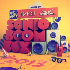 Onelove Sonic Boom Box 2013 by Small Studio , via Behance