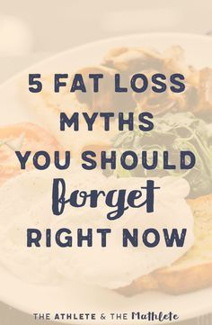 These 5 fat loss myths will lead you in the wrong direction and could even make you gain weight. This post rounds them up and provides healthy alternatives. Click through for more information!