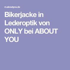 Bikerjacke in Lederoptik von ONLY bei ABOUT YOU