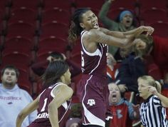 Achiri Ade leads Texas Aggie women's basketball to victory over Arkansas, 52-50 on  4 Jan 2015
