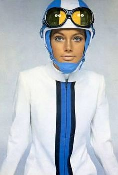 1960s - Pierre Cardin space fashion - And, the rage of white / neutral lipstick was born!