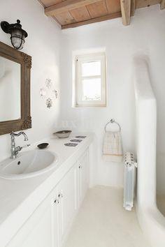 cycladic bathroom