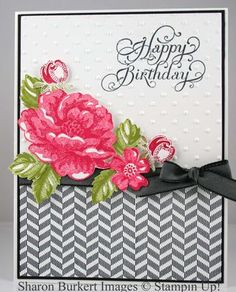 Stampin' Up! Birthday  by Sharon Burkert at As The Ink Dries: Stippled Blossoms