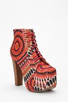 """Another crazy fantastic shoe by Jeffrey Campbell [Feather Lita Fab Boot]. Guess this line really IS the line that makes those """"American"""" boots I pinned earlier on this page!"""