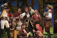 The Cat Who Went Up The Creek The Pirates of Penzance~Gilbert & Sullivan. Peter And The Starcatcher, Peter Pan Costumes, King Costume, The Pirate King, Stage Set, Treasure Island, Music Industry, Neverland, Theatre