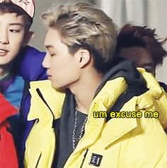 When Kai's hood got in Kungsoo's face....(Click)