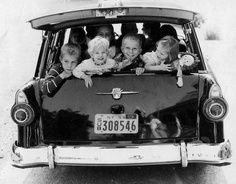 The good old days before seatbelt laws.