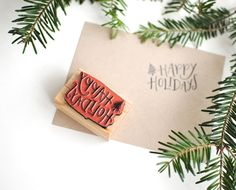 Love the look of hand-stamped cards + envelopes (and easier on the hands!)