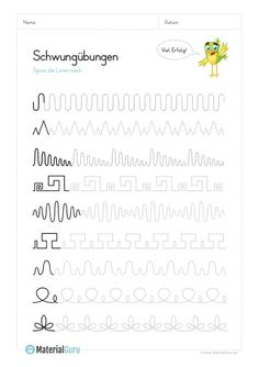Arbeitsblätter Vorschule Deutsch – Rebel Without Applause Handwriting Worksheets, Tracing Worksheets, Handwriting Practice, Preschool Worksheets, Preschool Writing, Preschool Learning Activities, Kids Learning, Kindergarten Portfolio, Pre Writing