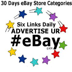 People LOVE to shop by category! Promote eBay Store Categories 6 Links 30 Days #Advertising #Campaign #Marketing #eBay