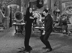 The Addams Family~ Gomez and Mortisha dance together