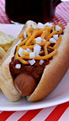 Texas Chili Cheese Dogs