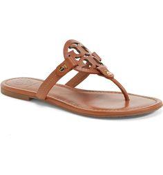 a5ae2d07f226 Tory Burch Women Miller Flip Flop  Size 8M  Vintage Leather