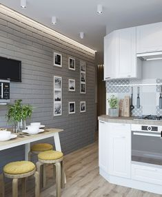 Le Logis, Kitchen Remodel, Sweet Home, Photo Wall, Kitchen Cabinets, House Design, Modern, Table, Furniture