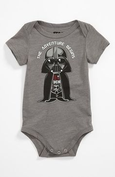 THE ADVENTURE BEGINS!!! Cute Baby Boy Gift!! Mighty Fine 'Vader Adventure' Bodysuit (Baby) available at #Nordstrom