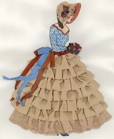 The Best Free Crafts Articles: Ribbon Doll Free Tutorial and E-Pattern by Maureen Greeson of Maureen's Vintage Acquisitions