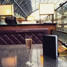 Searcy's champagne bar, Kings Cross station