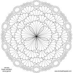 Don't Eat the Paste: January Birthstone and Flower Mandala