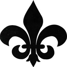 Fleur de Lis: One of my favorite symbols is actually ancient; but people always think I'm from New Orleans! Stencil Flor, Stencils, Damask Stencil, Silkscreen, Typographie Logo, Illustration, 3d Prints, Mosaic Designs, Letter Wall
