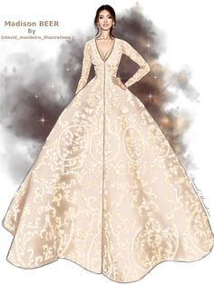The magnificent Madison Beer wearing an Ashi Studio couture dress at #amFAR #digitaldrawing by David Mandeiro illustrations