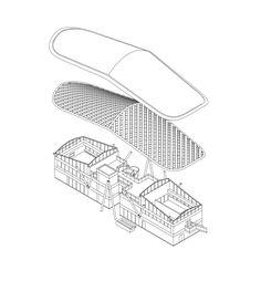Image 29 of 32 from gallery of JR Onagawa Station / Shigeru Ban Architects. Axonometric