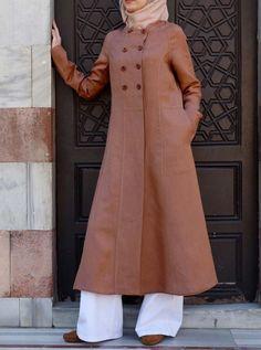 Day Off Duster Coat Tesettür Tunik Modelleri 2020 Modest Dresses, Modest Outfits, Dresses For Work, Abaya Fashion, Modest Fashion, Fashion Outfits, Moslem Fashion, Modele Hijab, Coats For Women