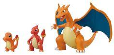 Amazon.com: Pokemon Evolution Plastic Modeling Kit Charmander Charmeleon Charizard Plamo Figure Toy Lizardon Bandai (Japanese Import): Toys & Games