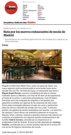 BLOG Zoom Madrid Diciembre 2014  #prensa #caraymadrid #caray #restaurante #foodies #travel #food #comida #decoration #decor #design #gastronomy #gastro
