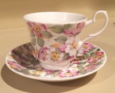 Roy Kirkham Old England Floral Tea Cup and Saucer