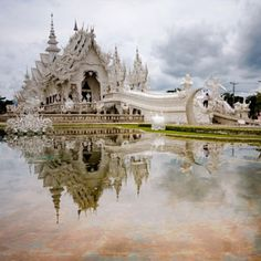 Chang Mai White Palace. This is absolutely beautiful if you ever go to Thailand.