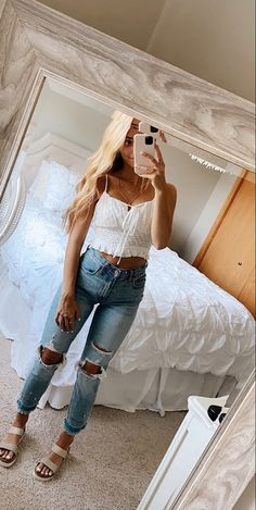 Trendy Summer Outfits, Cute Comfy Outfits, Preppy Outfits, Teen Fashion Outfits, Simple Outfits, Outfits For Teens, Stylish Outfits, Girl Outfits, For Elise