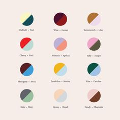 Our newest fall color theory guide to help you decide your next power couple. Tell us your favorite below. Colour Schemes, Color Combos, Color Patterns, House Color Combinations, Fashion Color Combinations, Graphic Design Inspiration, Color Inspiration, Website Design, Design Graphique