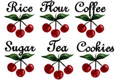 ChiC-VinTaGe-CheRRieS-CaNisTeR-LaBeLs-WaTerSLiDe-DeCALs-ShaBby