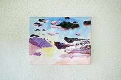 Sunrise Painting Abstract Cloud Art 11x14 Cumulus by LoganBerard