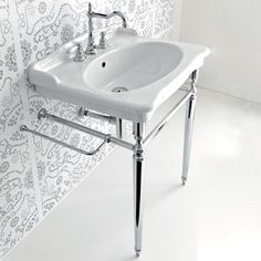 Console Sink With Metal Legs - Foter