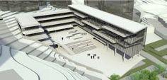 eğimli arazide yapı ile ilgili görsel sonucu Wellbeing Centre, Youth Center, Arch Model, Dormitory, Urban Design, Pavilion, Villa, Architecture, Building