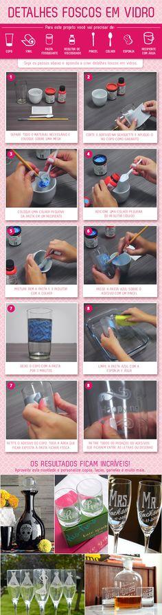 Aprenda com criar detalhes foscos em vidro com este passo a passo prático! Você pode encontrar mais dicas de artesanato no blog www.mundosilhouette.com