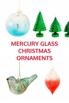 best mercury glass christmas decorations and ornaments for holiday home decor - Glass Christmas Tree Decorations