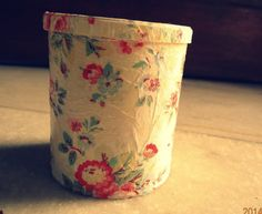 #upcycle #decoupage , Empty pringles can made beautiful