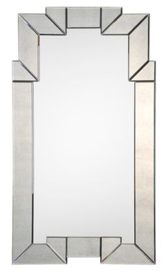 Incoporate aspects of Art Deco design with accessories such as a mirror with precise lines.