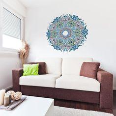Floral Victorian Mandala Vinyl Wall Art Sticker