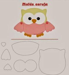 Friendly Felt: Template Owl Boutique D 'Caroline Owl Patterns, Applique Patterns, Sewing Patterns, Owl Applique, Felt Owls, Felt Animals, Boutique D Caroline, Motifs D'appliques, Sewing Crafts