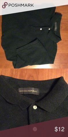 Men's XL Banana Republic pique polo shirt! Charcoal gray! Gently worn, but great shape! Banana Republic Shirts Polos