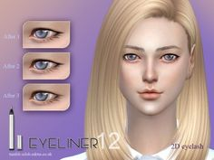 The Sims Resource: Eyeliner 12 by S-Club • Sims 4 Downloads