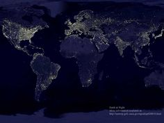 The lights of the world at night