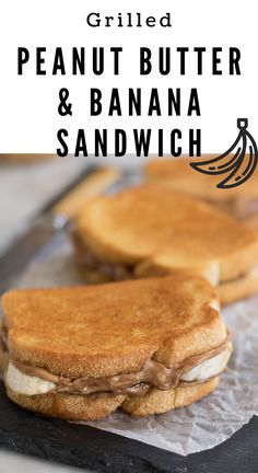 This grilled peanut butter banana sandwich is life changing! They combine both insane texture and amazing flavors together to give you this amazing grilled sandwich! #peanutbutter #peanubutterbananasandwich #pbsandwich #grilled sandwich #grilledpeanutbuttersandwich