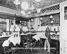 Old/Antique Barber Shop Hair Cut Hot Razor Shave Cash Register Photo/Picture in Collectibles, Photographic Images, Vintage & Antique (Pre-1940) | eBay