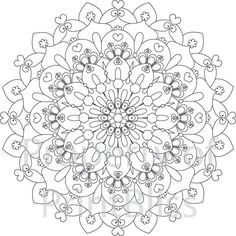 1. Flower Mandala printable coloring page by PrintBliss on Etsy